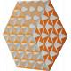 Tableau hexagonal mural CIS 2
