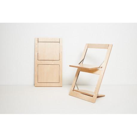 Chaise pliante Fläpps bouleau