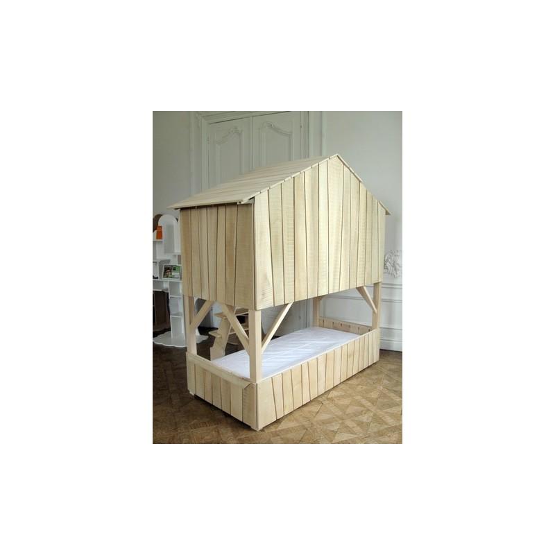 lit cabane double en tilleul mathy by bols. Black Bedroom Furniture Sets. Home Design Ideas