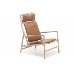 Lounge chair Dedo cuir Dakar whisky