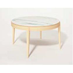 Table ronde extensible Liseré plateau céramique DASRAS
