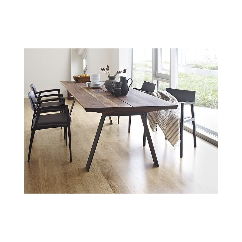 table de repas extensible plank naver. Black Bedroom Furniture Sets. Home Design Ideas