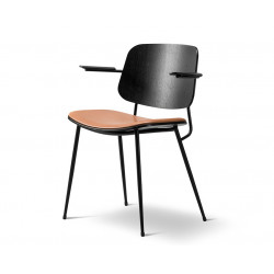 Fauteuil Soborg, pieds métal, assise tapissée FREDERICIA