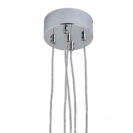Rosace argentée pour 5 lampes
