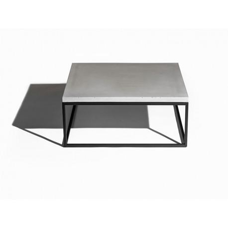 Table basse Perspective LYON BETON métal noir