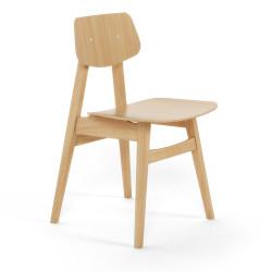 Chaise 1960 pieds bois REX KRALJ