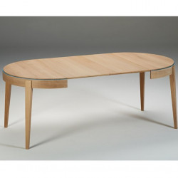 Table ronde extensible Liseré DASRAS